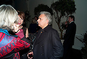 HANIF KUREISHI, Party for Perfect Lives by Polly Sampson. The 20th Century Theatre. Westbourne Gro. London W11. 2 November 2010. -DO NOT ARCHIVE-© Copyright Photograph by Dafydd Jones. 248 Clapham Rd. London SW9 0PZ. Tel 0207 820 0771. www.dafjones.com.