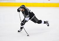 24 May 2014 Los Angeles Kings defenseman Alec Martinez 27 5300 takes Slapshot ON Goal during Game 3 of The Western Conference Final between The Chicago Blackhawks and The Los Angeles Kings AT The Staples Center in Los Angeles Approx NHL Ice hockey men USA May 24 Stanley Cup Playoffs Western Conference Final Blackhawks AT Kings Game 3 <br />