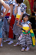 Mother and daughter preparing ahead of the Tenjin Festival (Tenjin Matsuri) in Osaka.