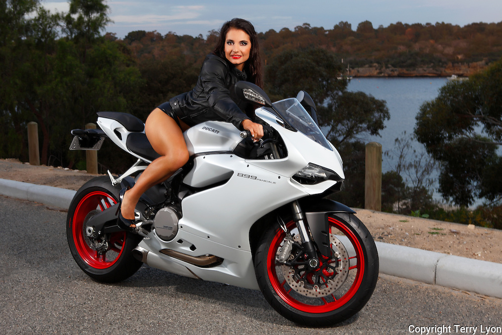 Emilie Bric Ducati bike shoot Terry Lyon