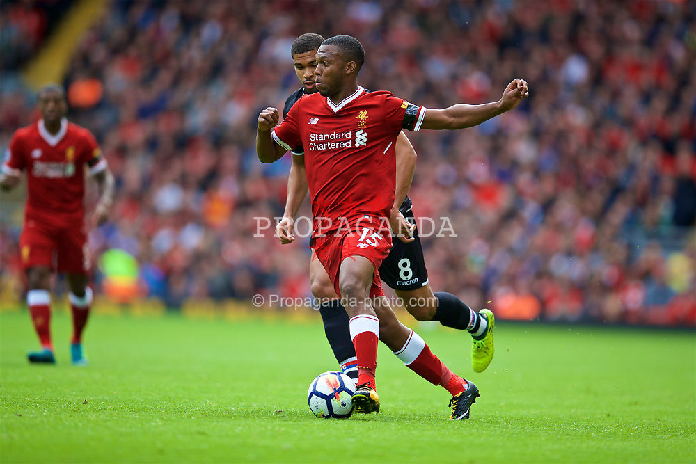 LIVERPOOL, ENGLAND - Saturday, August 19, 2017: Liverpool's Daniel Sturridge during the FA Premier League match between Liverpool and Crystal Palace at Anfield. (Pic by David Rawcliffe/Propaganda)