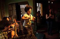 Samba singer Marina Iris performs at Semente, in Lapa, the nightlife district, in Rio de Janeiro, Brazil, on Saturday, June 16, 2013.