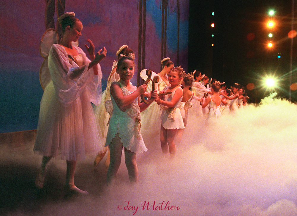 Angels and Cherubs dance in the beginning of the second act of the Nutcracker.  December 1996