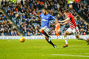 Daniel Candeias of Rangers during the Ladbrokes Scottish Premiership match between Rangers and Hamilton Academical FC at Ibrox, Glasgow, Scotland on 16 December 2018.