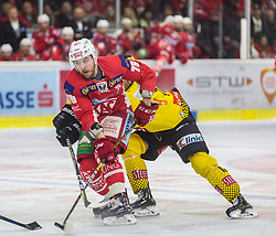 20.04.2019, Stadthalle, Klagenfurt, AUT, EBEL, EC KAC vs Vienna Capitals, Finale, 4. Spiel, im Bild Mich WAHL (EC KAC, #79), Riley HOLZAPFEL (spusu Vienna CAPITALS, #21) // during the Erste Bank Icehockey 4th final match between EC KAC and Vienna Capitals at the Stadthalle in Klagenfurt, Austria on 2019/04/20. EXPA Pictures © 2019, PhotoCredit: EXPA/ Gert Steinthaler