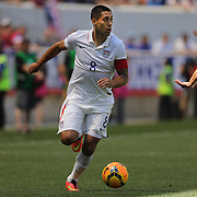 Clint Dempsey, USA, in action during the US Men's National Team Vs Turkey friendly match at Red Bull Arena.  The game was part of the USA teams three-game send-off series in preparation for the 2014 FIFA World Cup in Brazil. Red Bull Arena, Harrison, New Jersey. USA. 1st June 2014. Photo Tim Clayton