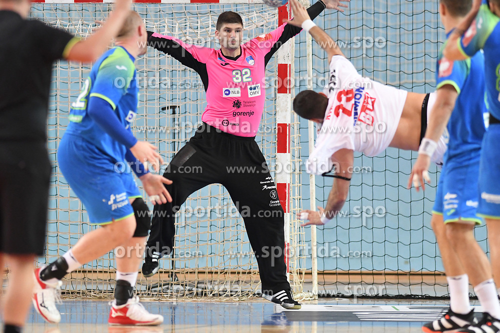 Rok Zaponsek of Slovenia during friendly handball match between Slovenia and Srbija, on October 27th, 2019 in Športna dvorana Lukna, Maribor, Slovenia. Photo by Milos Vujinovic / Sportida