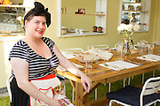 Miss Rachel's Pantry's cozy dining room features a long farmhouse table with seating for up to 12 guests. Retro chic decor and warm service make for a fun, comfortable and unique dinner experience. Each weekend, our Friday and Saturday evening pre-fixe tasting dinners begin at 7 pm and offer 4 courses of homestyle vegan cuisine for $45, made with fresh, locally and sustainably sourced ingredients. Finish your meal with a cup of fair trade espresso or tea. Bring a date or yourself - you're sure to leave with a few new friends