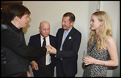 Joshua Bell, Grammy Award winning violinist,Ronald O.Perelman, Nat Rothschild and Guest  attend the National Youth Orchestra of The United States of America Reception at the <br /> The Royal Albert Hall hosted be Ronald O.Perelman, London, United Kingdom,<br /> Sunday, 21st July 2013<br /> Picture by Andrew Parsons / i-Images