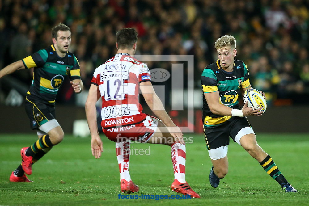 Harry Mallinder of Northampton Saints (right) during the Aviva Premiership match at Franklin's Gardens, Northampton<br /> Picture by Andy Kearns/Focus Images Ltd 0781 864 4264<br /> 28/10/2016