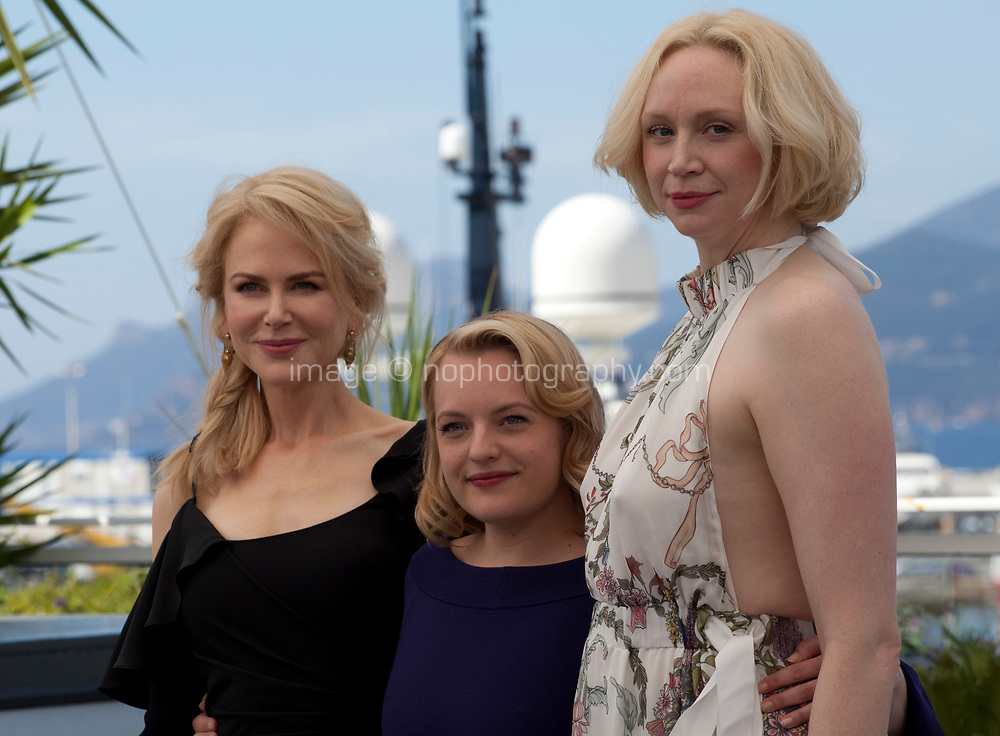 Nicole Kidman, Elisabeth Moss and Gwendoline Christie at the Top Of The Lake: China Girl photo call at the 70th Cannes Film Festival Tuesday 23rd May 2017, Cannes, France. Photo credit: Doreen Kennedy