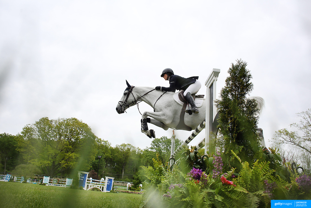NORTH SALEM, NEW YORK - May 21: Sydney Schulman riding Quidam 13 in action during The $15,000 Under 25 T & R Development Grand Prix at the Old Salem Farm Spring Horse Show on May 21, 2016 in North Salem, New York. (Photo by Tim Clayton/Corbis via Getty Images)
