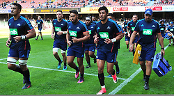 Cape Town-180317  Blues players warm up before playing against DHL Stomers in a Super Rugby tournament  at Newlands rugby stadium.Photograph:Phando Jikelo/African News Agency/ANA