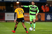 Forest Green Rovers Gavin Gunning(16) during the EFL Sky Bet League 2 match between Cambridge United and Forest Green Rovers at the Cambs Glass Stadium, Cambridge, England on 2 October 2018.