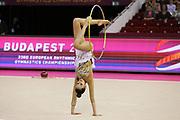 Alina Harnasko, Belarus, at the 33rd European Rhythmic Gymnastics Championships at Papp Laszlo Budapest Sports Arena, Budapest, Hungary on 21 May 2017. Photo by Myriam Cawston.