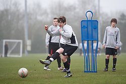 CARDIFF, WALES - Thursday, March 15, 2012: Wales U16's Daniel James (Hull City FC & South Hunsley) during a training session at the Glamorgan Sports Park. (Pic by David Rawcliffe/Propaganda)
