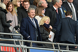 England Manager Roy Hodgson watches from the stands. - Mandatory by-line: Alex James/JMP - 23/04/2016 - FOOTBALL - Wembley Stadium - London, England - Everton v Manchester United - The Emirates FA Cup Semi-Final