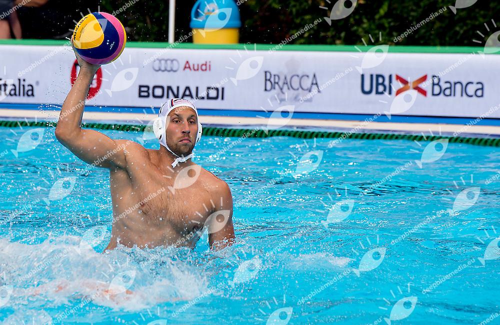 11 PRLAINOVIC Andrija SRB<br /> Serbia SRB - United States USA<br /> day 01 - 23/06/2015<br /> FINA Water Polo World League Superfinal Men<br /> Bergamo (ITA) 23-28 June 2015<br /> Photo G.Scala/Deepbluemedia