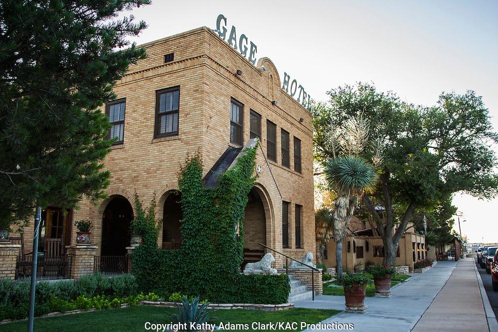 The Gage Hotel, located on US 90, Marathon, Texas, west Texas,