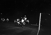 02/10/1963<br /> 10/02/1963<br /> 02 October 1963<br /> League of Ireland v English Football League at Dalymount Park, Dublin. Tony Waiters (Blackpool) gathers the ball as  Eddie Bailham (Shamrock Rovers) rises with him.