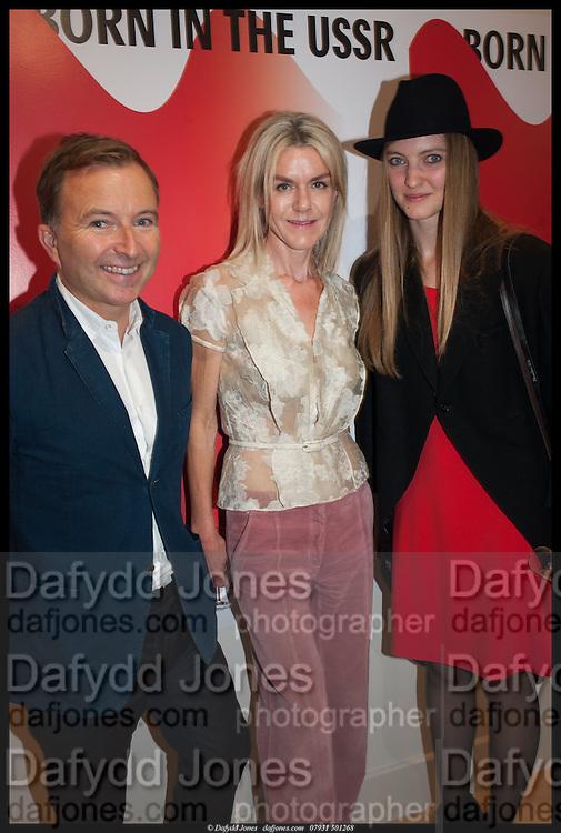 TONY CHAMBERS; SUZANNE TROCME; LERA MOISEEVA;, Born in the USSR, Design exhibition opening. Gallery Elena Shchukina, Beauchamp Place, Knightsbridge. London. 15 September 2014.