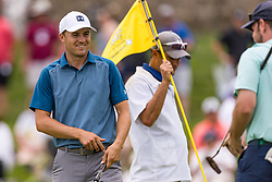 May 29, 2019 - Dublin, OH, U.S. - DUBLIN, OH - MAY 29: Jordan Spieth reacts after completing the 18th hole of the Pro-Am of the Memorial Tournament presented by Nationwide at Muirfield Village Golf Club on May 30, 2018 in Dublin, Ohio. (Photo by Adam Lacy/Icon Sportswire) (Credit Image: © Adam Lacy/Icon SMI via ZUMA Press)