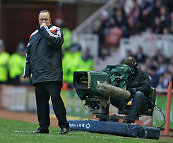 MIDDLESBROUGH, ENGLAND - Saturday, January 12, 2008: Liverpool's manager Rafael Benitez against Middlesbrough during the Premiership match at the Riverside Stadium. (Photo by David Rawcliffe/Propaganda)