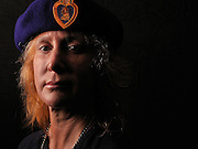 Portraits of Army National Guard SGT Susan Sonheim..Sonheim was injured while serving in Iraq and is the first woman in the history of the National Guard to receive the Purple Heart. .