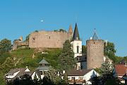 Lindenfels mit Burg Lindenfels, Odenwald, Hessen, Deutschland