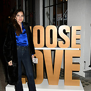 Yasmin Mills arrives at Choose Love shop launch at Foubert's Place, Carnaby on 22 November 2018, London, UK.