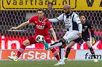 ALMELO - 14-04-2017, Heracles  Almelo - AZ, AFAS Stadion, AZ speler Rens van Eijden, Heracles Almelo speler Samuel Armenteros