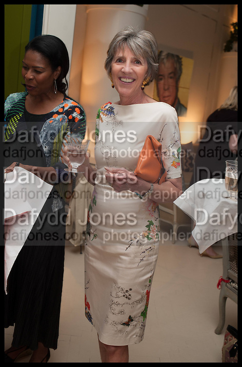 JANE CHURCHILL, Nicky Haslam hosts a party to launch a book by  Maureen Footer 'George Stacey and the Creation of American Chic' . With a foreword by Mario Buatta. Kensington. London. 11 June 2014