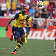 Chuba Akpom, Arsenal, in action during the New York Red Bulls Vs Arsenal FC,  friendly football match for the New York Cup at Red Bull Arena, Harrison, New Jersey. USA. 26h July 2014. Photo Tim Clayton