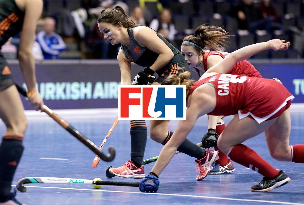 BERLIN - Indoor Hockey World Cup<br /> Women: Netherlands - United States<br /> foto: Kiki van Wijk.<br /> WORLDSPORTPICS COPYRIGHT FRANK UIJLENBROEK