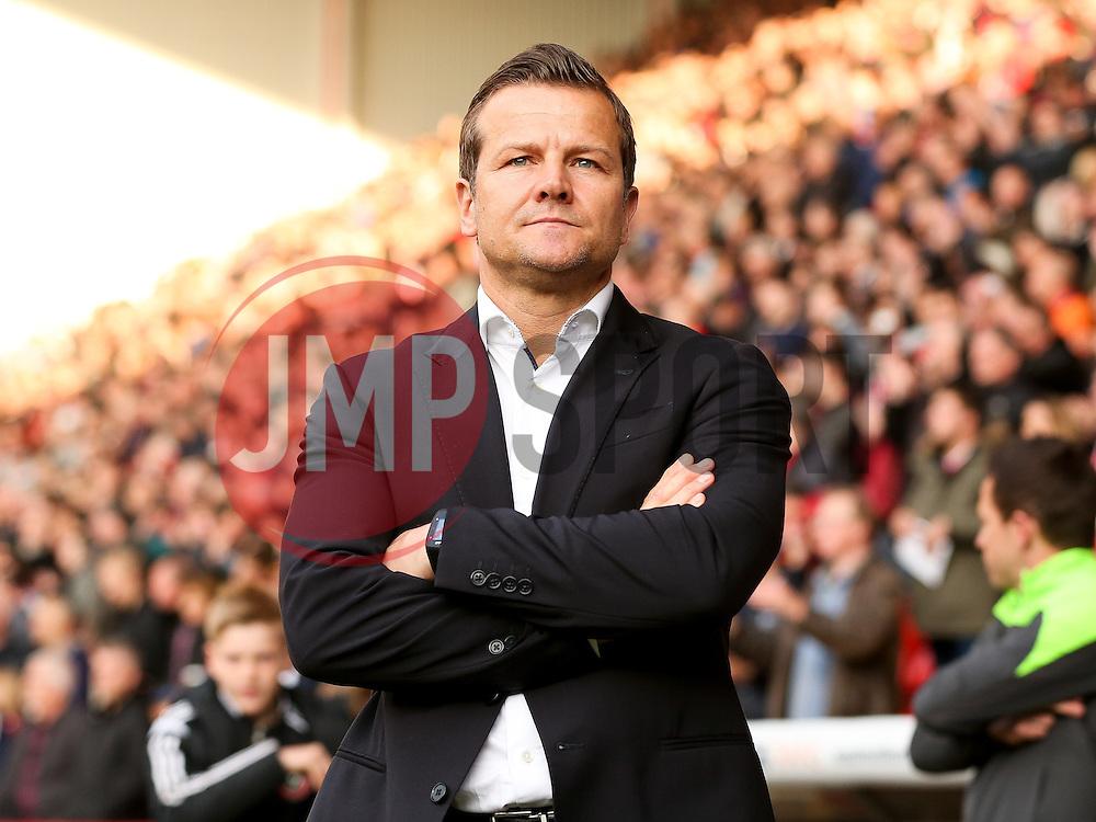 Swindon Town Manager, Mark Cooper  - Photo mandatory by-line: Matt McNulty/JMP - Mobile: 07966 386802 - 07/05/2015 - SPORT - Football - Sheffield - Bramall Lane - Sheffield United v Swindon Town - Sky Bet League One