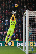 Asmir Begovic (GK) (Bournemouth) saves the ball during the Premier League match between Bournemouth and Arsenal at the Vitality Stadium, Bournemouth, England on 25 November 2018.