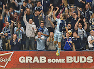 Sports Illustrated -- Sporting Kansas City forward Graham Zusi (8) celebrates after scoring against the Montreal Impact during the second half at Sporting Park. Sporting Kansas City defeated Montreal 2-0.