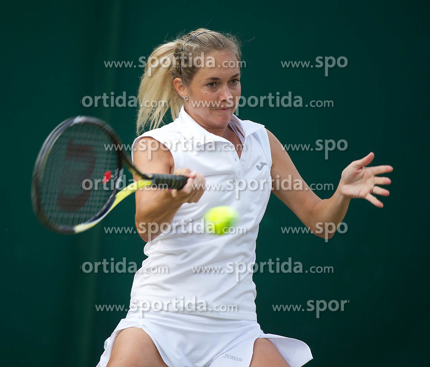 23.06.2011, Wimbledon, London, GBR, Wimbledon Tennis Championships, im Bild Klara Zakopalova (CZE) in action during the Ladies' Singles 2nd Round match on day four of the Wimbledon Lawn Tennis Championships at the All England Lawn Tennis and Croquet Club, EXPA Pictures © 2011, PhotoCredit: EXPA/ Propaganda/ *** ATTENTION *** UK OUT!