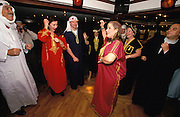 "Passengers dressing ""Egyptian style"" during Galabiya & Costume Party on board of the Oberoi Philae."