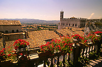 View toward Palazzo dei Consoli, Gubbio, Umbria, Italy