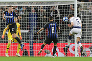 Tottenham Hotspur defender Jan Vertonghen (5) puts a header wide during the Champions League group stage match between Tottenham Hotspur and Inter Milan at Wembley Stadium, London, England on 28 November 2018.