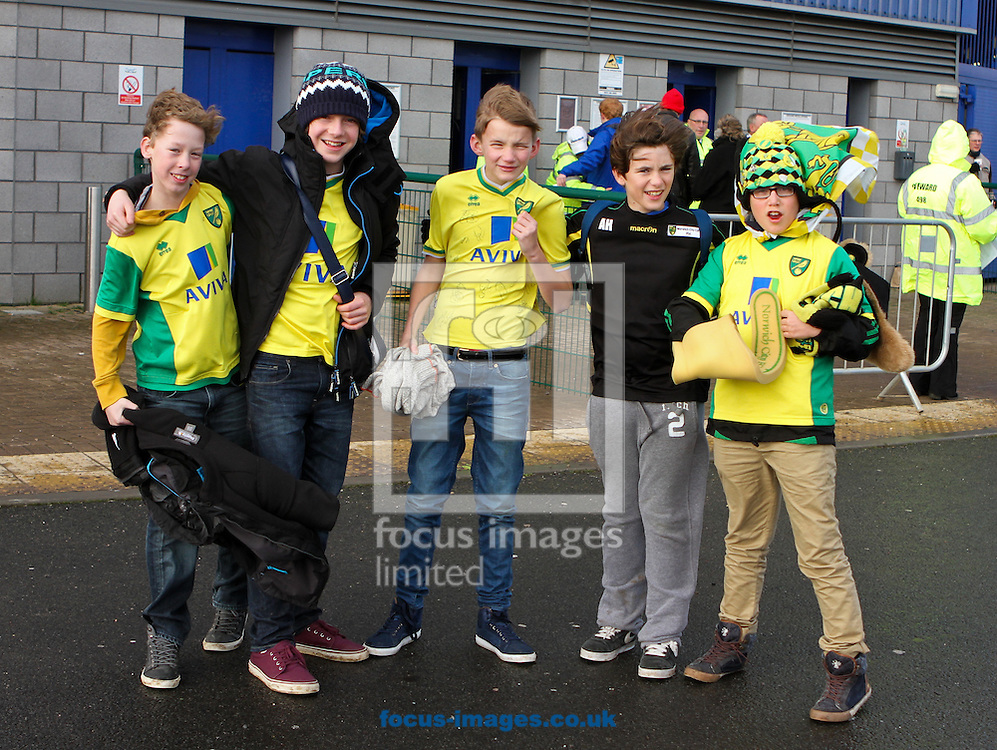 Picture by Tom Smith/Focus Images Ltd 07545141164<br /> 01/02/2014<br /> Norwich City fans before the Barclays Premier League match at the Cardiff City Stadium, Cardiff.