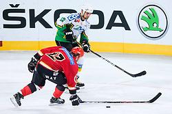 Luka Zagar and Dejan Varl during ice-hockey friendly match between legends of HDD Tilia Olimpija and HK Acroni Jesenice, on April 14, 2012 at SRC Stozice, Ljubljana, Slovenia. (Photo By Matic Klansek Velej / Sportida.com)
