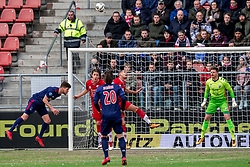 28-01-2018 NED: FC Utrecht - AFC Ajax, Utrecht<br /> Klaas Jan Huntelaar #9 of Ajax, Giovanni Troupee #20 of FC Utrecht, Ramon Leeuwin #3 of FC Utrecht, David Jensen #1 of FC Utrecht