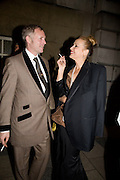 JOE CORRE; JERRY HALL, Chaos Point: Vivienne Westwood Gold Label Collection performance art catwalk show and auction in aid of the NSPCC. Banqueting House. London. 18 November 2008<br />