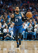OKLAHOMA CITY, OK - FEBRUARY 26: Orlando Magic Guard D.J. Augustin (14) bringing the ball up the court versus Oklahoma City Thunder at Chesapeake Energy Arena Oklahoma City, OK (Photo by Torrey Purvey/Icon Sportswire)
