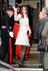 The Duchess of Cambridge arriving at the Guildhall in  Cambridge, Wednesday , 28th November 2012. .Photo by:  i-Images
