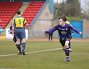 Scott Gardiner celebrates after scoring the winner  - Dundee Argyle win the Scottish Sunday Trophy beating Bullfrog in the final at Forthbank, Stirling<br /> <br />  <br />  - © David Young - www.davidyoungphoto.co.uk - email: davidyoungphoto@gmail.com