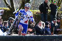 Arnold JEANNESSON - Course Elite Hommes  - 11.01.2015 - Cyclo cross - Championnats de France Femmes - Pontchateau<br /> Photo : Vincent Michel / Icon Sport