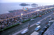 Crowds on Brighton Beach, Fatboy Slim Gig, Brighton, UK, 2002